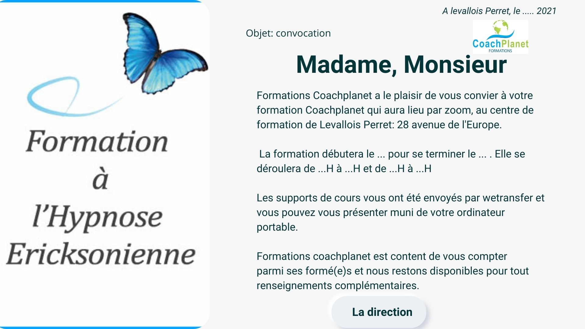 invitations formations coachplanet